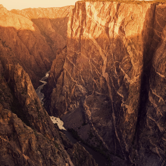"""""""Black Canyon Of The Gunnison National Park"""" stock image"""