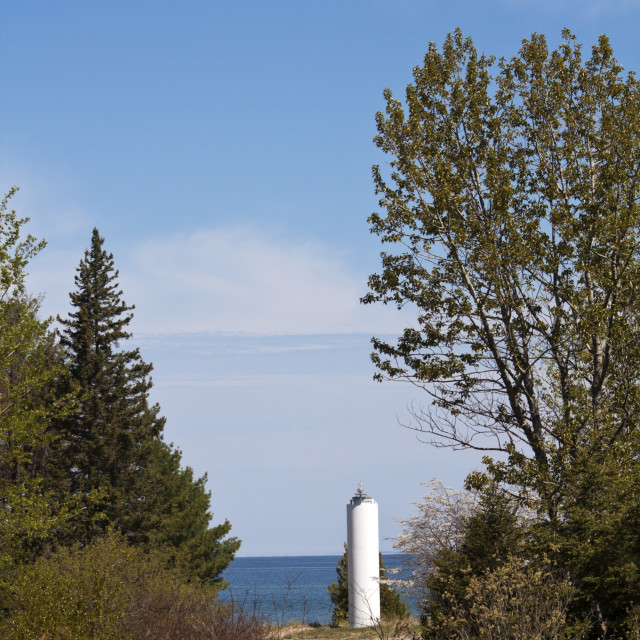 """""""Little Lighthouse in Michigan"""" stock image"""