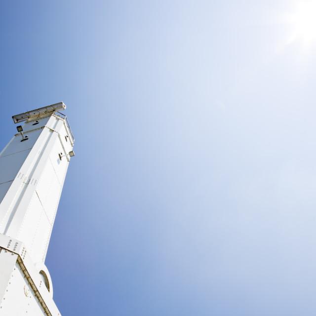 """Huron Harbor Lighthouse"" stock image"