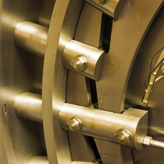 """""""Door in old bank"""" stock image"""
