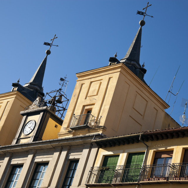 """""""Plaza Mayor in Segovia"""" stock image"""
