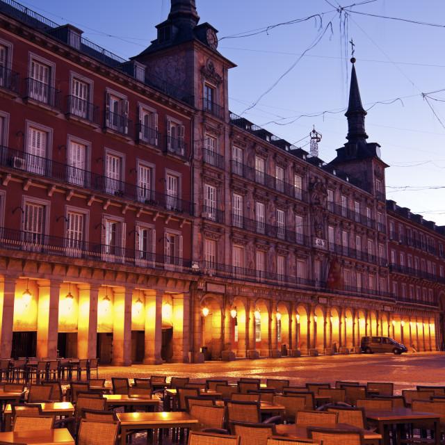 """""""Restaurant on Plaza Mayor"""" stock image"""