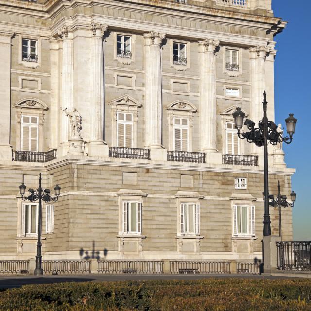 """Palacio Real in Madrid"" stock image"