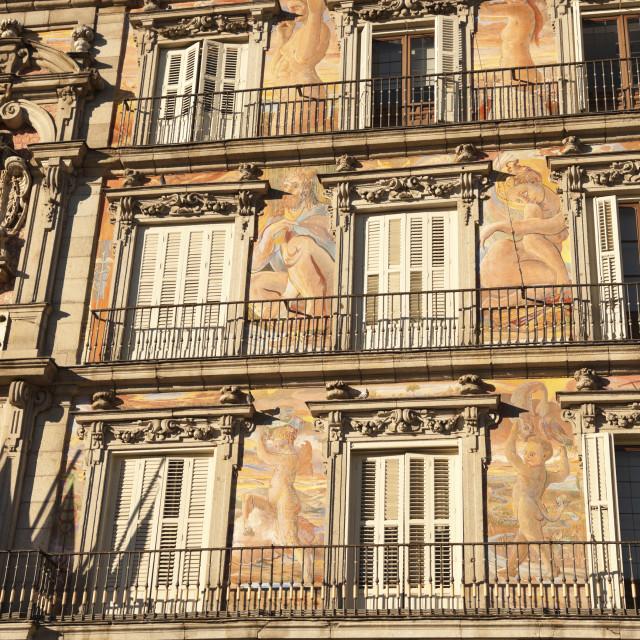 """Plaza Mayor - Historic building"" stock image"