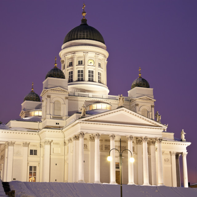 """""""Lutheran Cathedral - winter morning"""" stock image"""