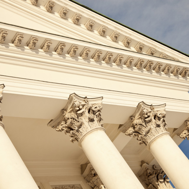 """""""Columns of Lutheran Cathedral in Helsinki"""" stock image"""