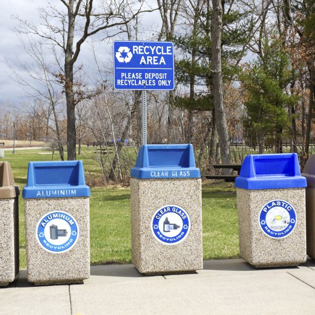 """""""Recycle area"""" stock image"""