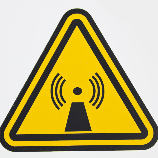 """Wireless radiation sign"" stock image"
