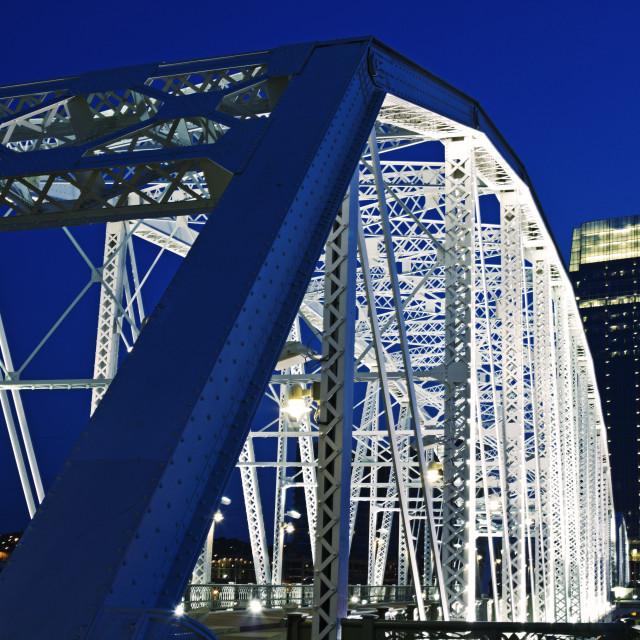 """Pedestrian bridge in Nashville"" stock image"
