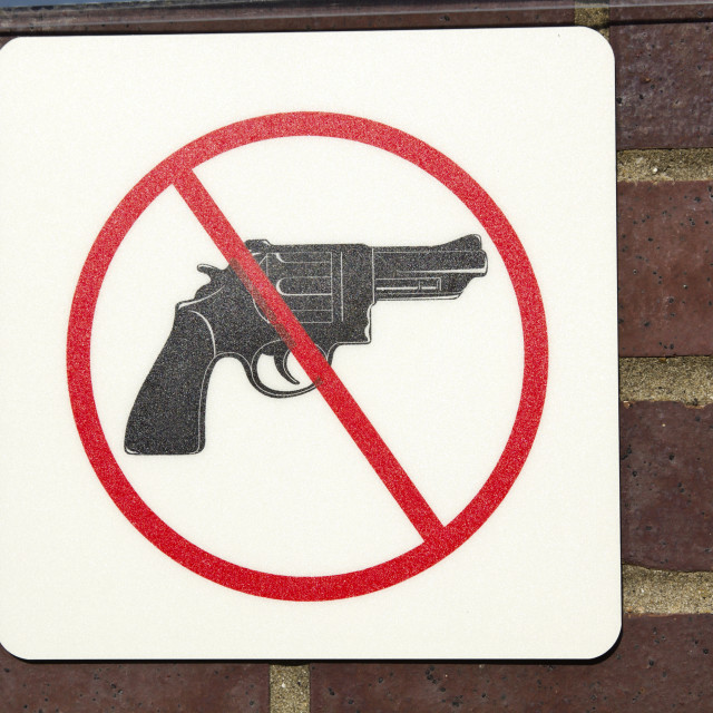 """""""No guns permitted"""" stock image"""