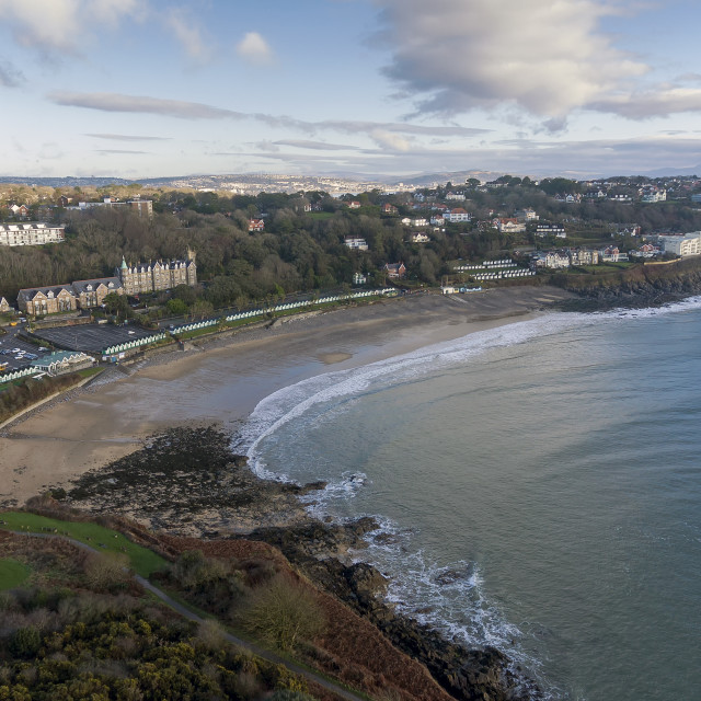 """""""Langland Bay in Swansea"""" stock image"""