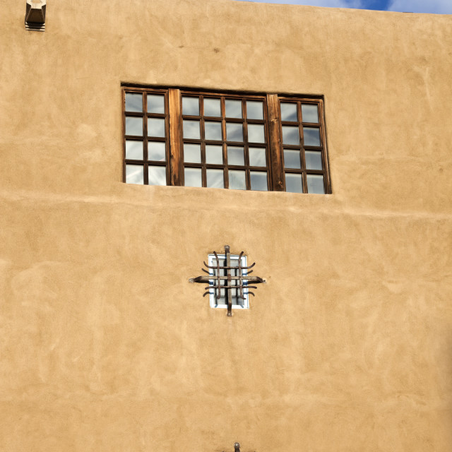 """""""Adobe building in Santa Fe"""" stock image"""