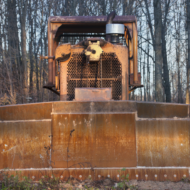 """Old bulldozer"" stock image"