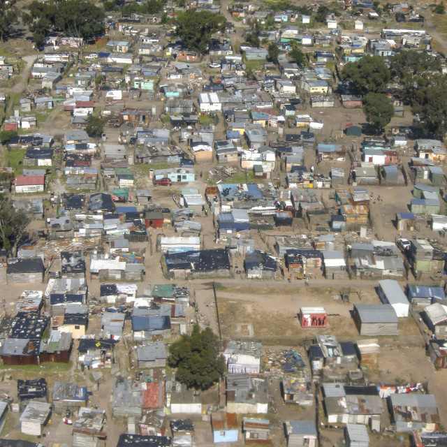"""""""Aerial of Shanty town, Cape Town, South Africa"""" stock image"""