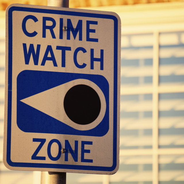 """Crime watch zone"" stock image"