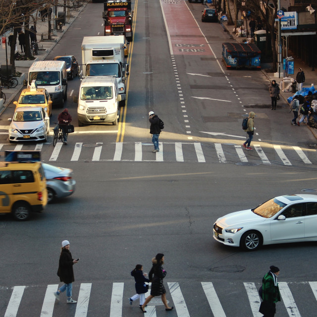 """Crossroads, Manhattan"" stock image"