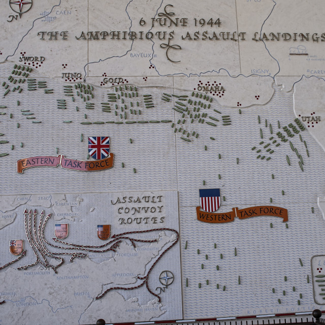 """D-Day landings map"" stock image"