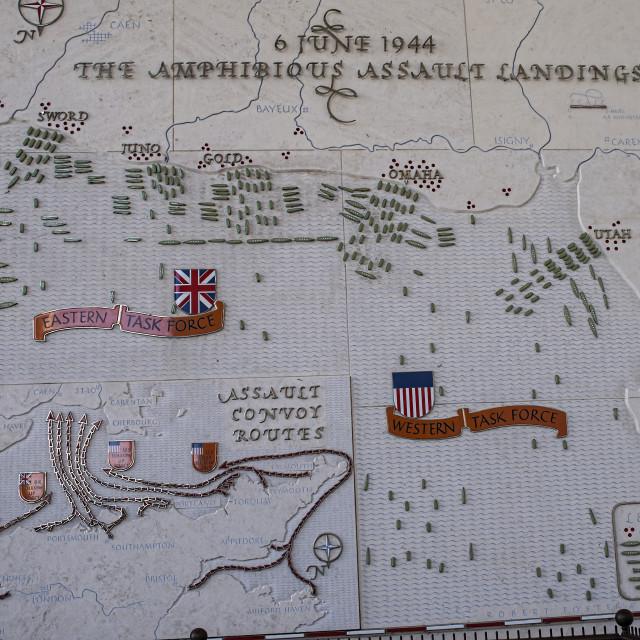 """D-Day landings map"" stock image"