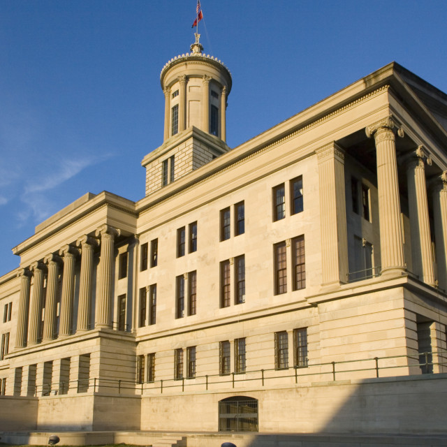 """Nashville, Tennessee - State Capitol"" stock image"