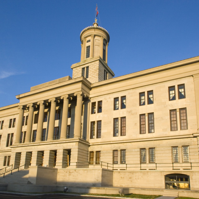 """""""Nashville, Tennessee - State Capitol"""" stock image"""