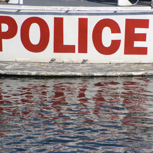"""""""Water Police"""" stock image"""