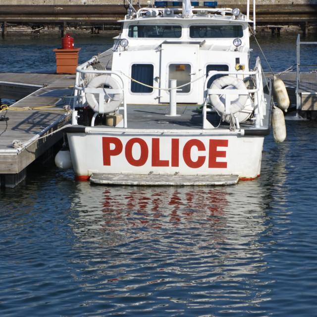 """""""Police Boat"""" stock image"""
