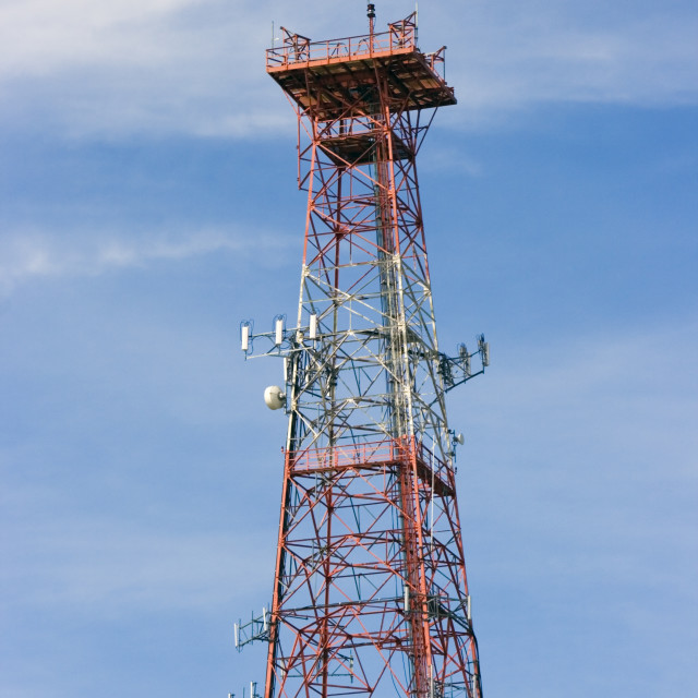 """""""Communications Tower"""" stock image"""