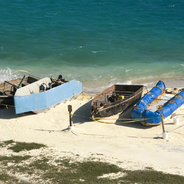 """Boats of Cuban Immigrants"" stock image"