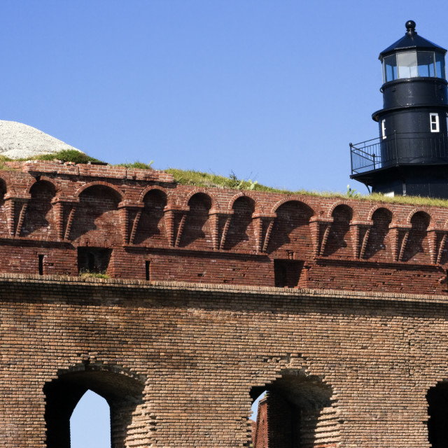 """""""Walls of Fort Jefferson"""" stock image"""