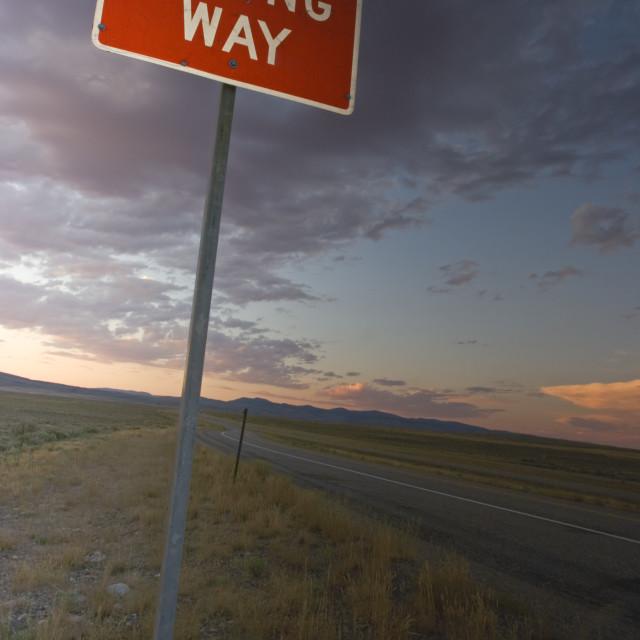 """""""Wrong Way sign"""" stock image"""