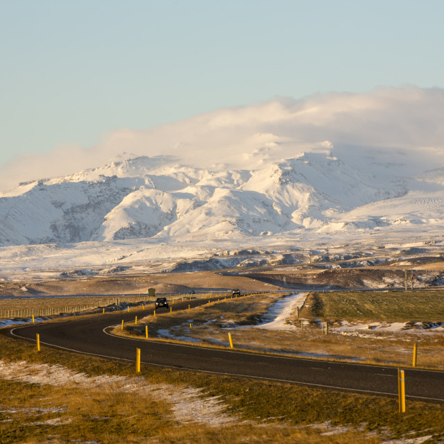 """Eyjafjallajökull and the South Coast drive - Iceland"" stock image"