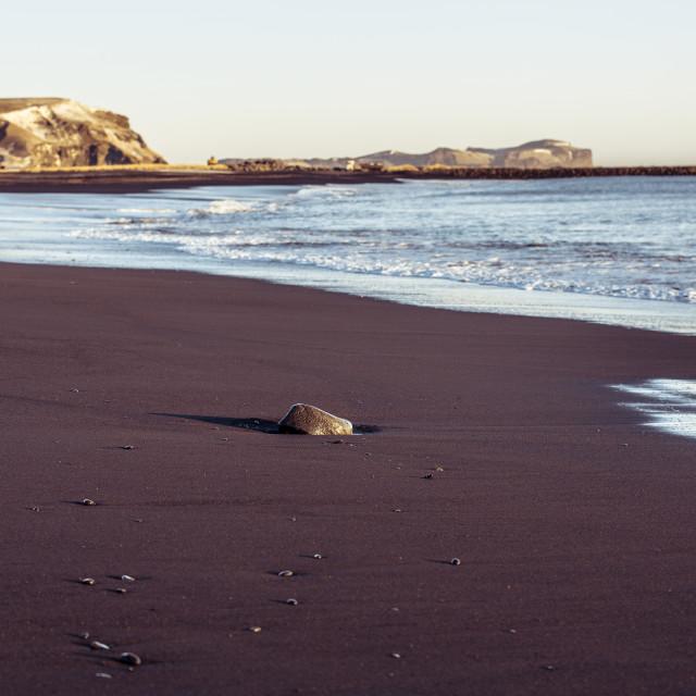 """Vik volcanic beach - Iceland"" stock image"