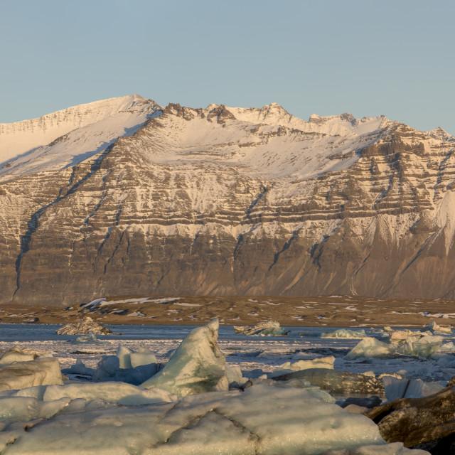 """""""Jökulsárlón Glaciar Lagoon"""" stock image"""