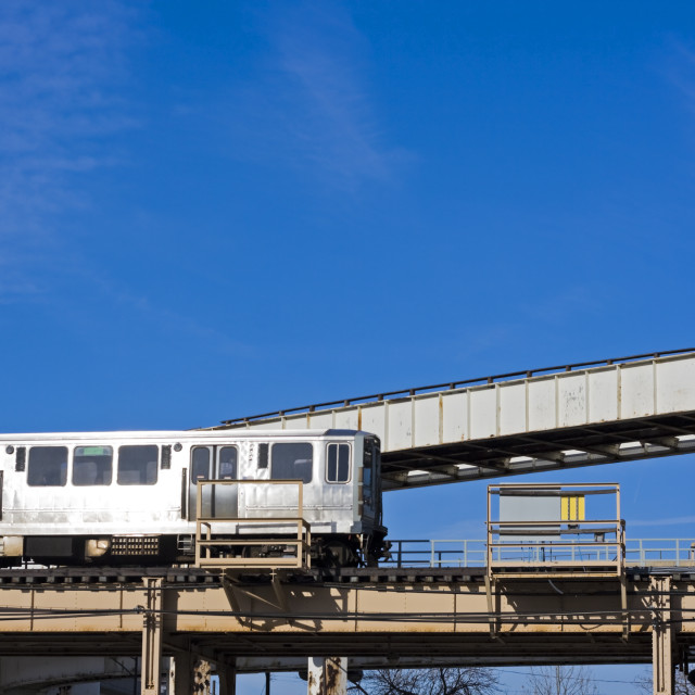 """""""Train in Chicago."""" stock image"""