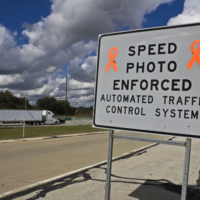 """Speed photo enforced"" stock image"
