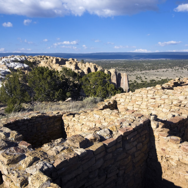 """El Ruins in Morro National Monument"" stock image"