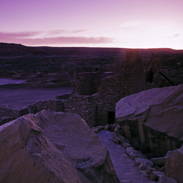 """""""Ruins in Chaco Culture National Monument"""" stock image"""