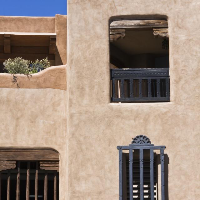 """""""Building in Santa Fe"""" stock image"""