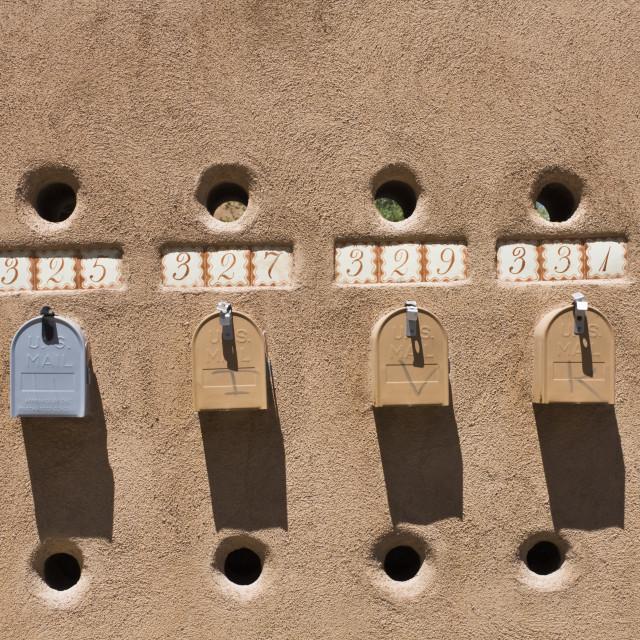 """Mailboxes in Santa Fe"" stock image"