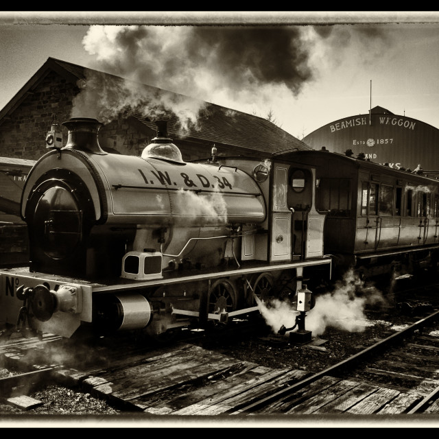 """Beamish Railway"" stock image"