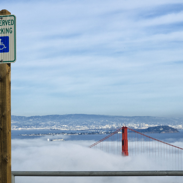 """""""Parking sign on the Marin headlands"""" stock image"""