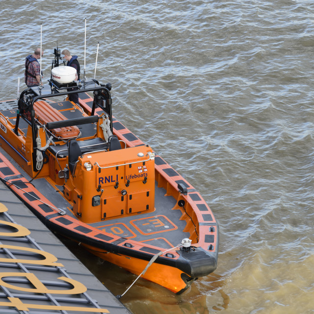 """RNLI Lifeboat"" stock image"
