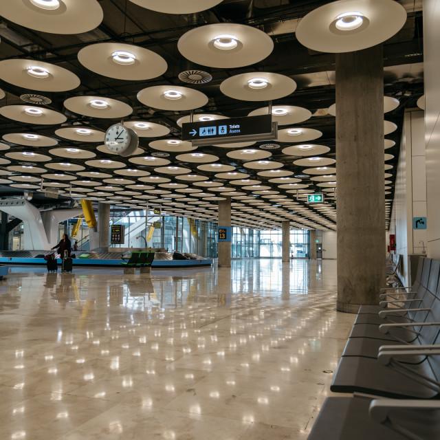 """Terminal Madrid Barajas Airport"" stock image"