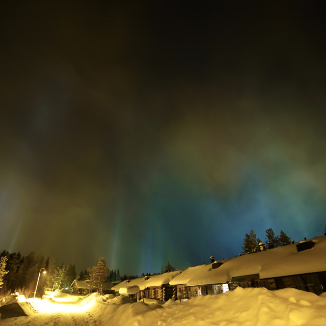 """Ice Light Pillars"" stock image"