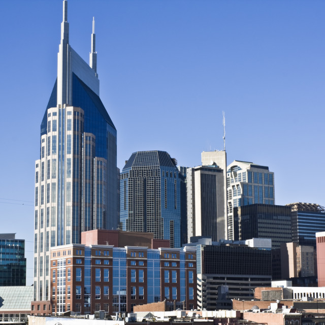 """Downtown Nashville, Tennessee"" stock image"