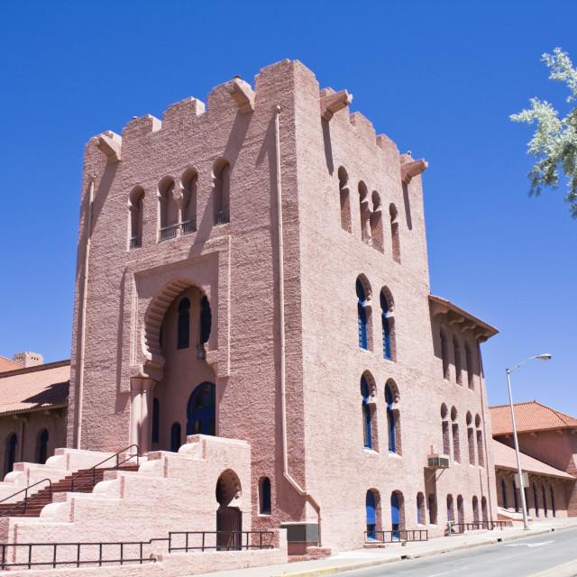 """""""Masonic Center in Santa Fe"""" stock image"""