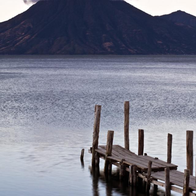 """Lago Attilan in Panajachel"" stock image"