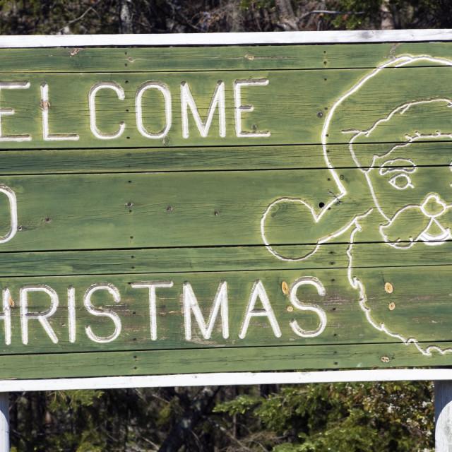 """""""Welcome to Christmas"""" stock image"""