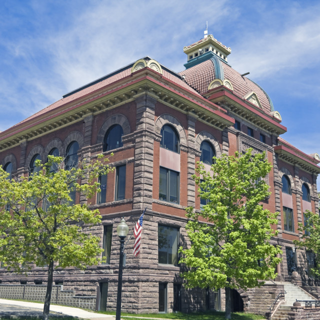 """""""City Hall in Marquette"""" stock image"""
