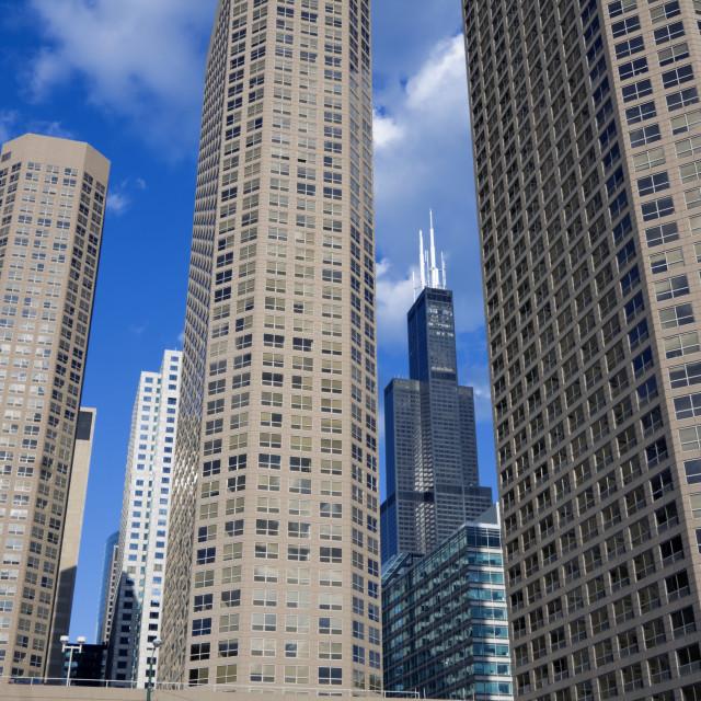 """Condo buildings in Chicago"" stock image"